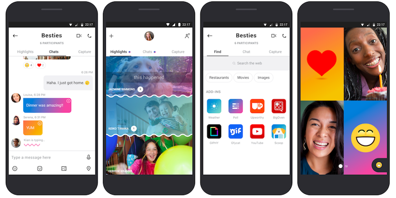 Microsoft Skype Redesigned With Inspiration From Snapchat
