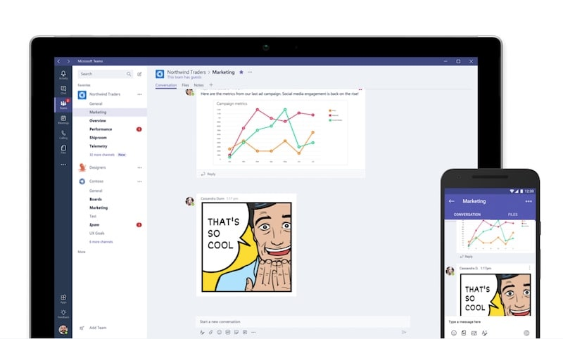 Enhanced Microsoft Teams app gives Slack tough competition