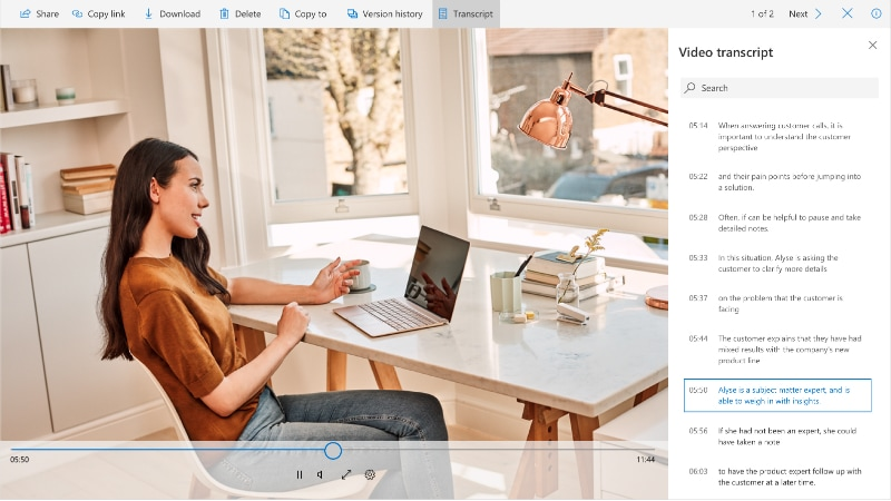Microsoft OneDrive and SharePoint Get Video and Audio Transcription, Smart Image Search, and More
