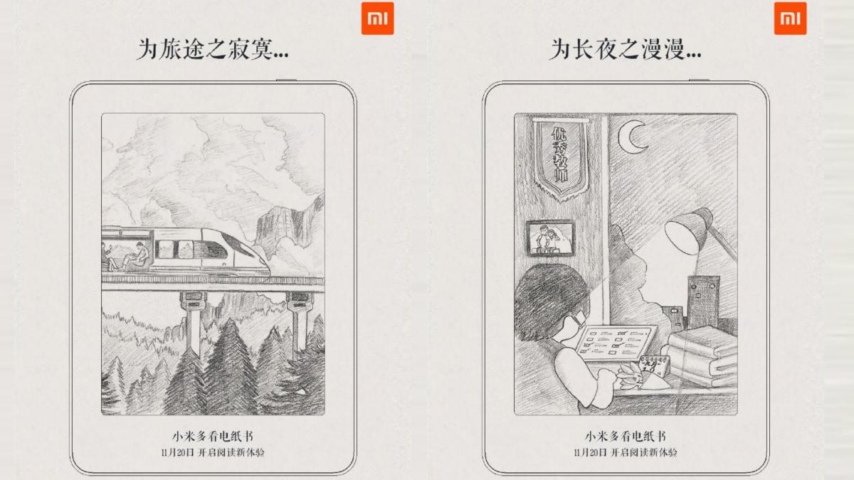 Thương hiệu phụ Xiaomi Mijia gợi lên một trình đọc sách điện tử tiết lộ thiết kế thiết kế 1