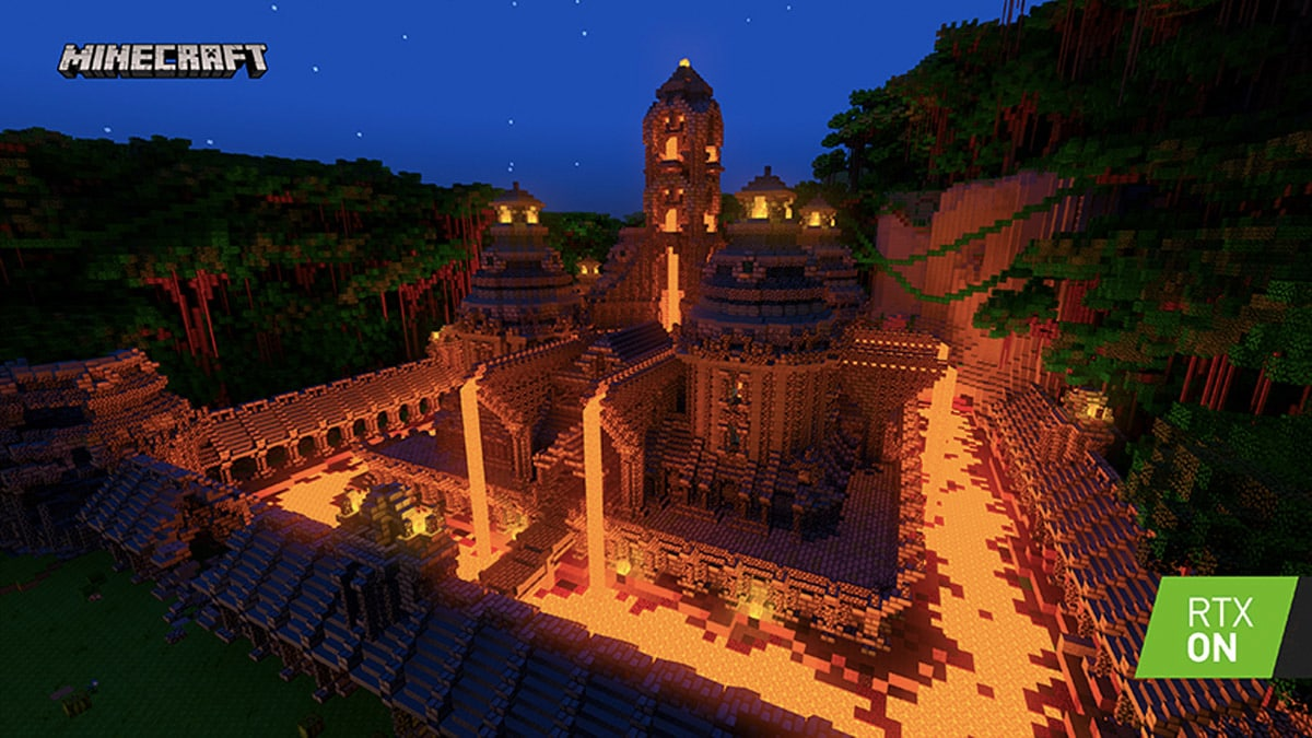 Minecraft with RTX beta is obtainable now