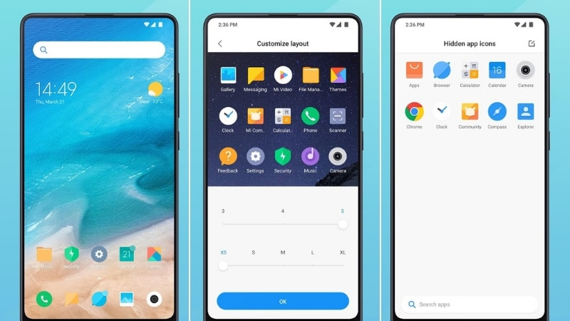 Xiaomi Mint Launcher for Redmi Go Debuts on Google Play, APK