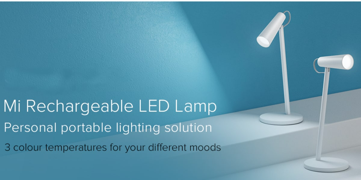 Xiaomi Mi Rechargeable LED Lamp With Five Days Battery Life Announced, Crowdfunding Starts July 18