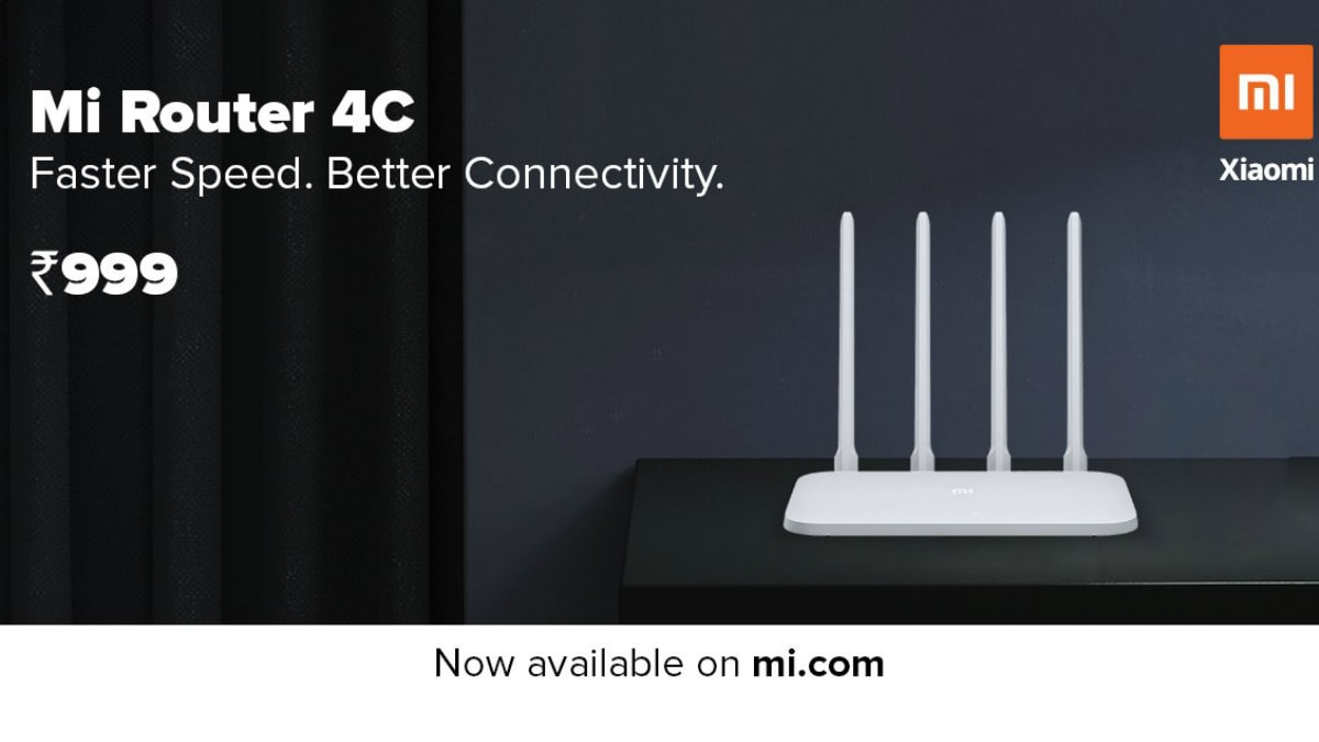Mi Router 4C With Four Antennae, Up to 300Mbps Speed Launched in India