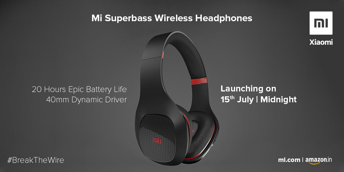 3a891a7cf82 Xiaomi Mi Superbass Wireless Headphones to Launch in India on July 15, Mi  Water TDS