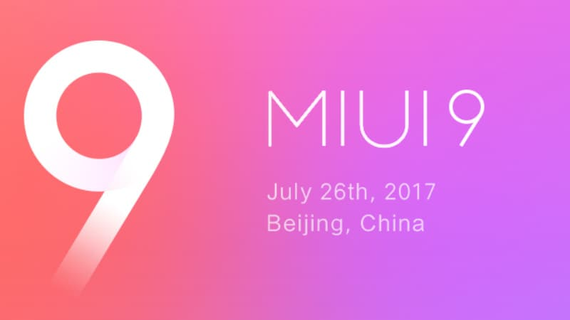 MIUI 9 Based on Android 7.0 Nougat Previewed Ahead of Wednesday Launch