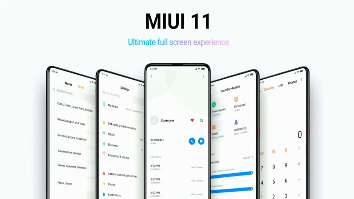 MIUI 11 to Get Customisable Lock Screen, Curriculum Mode Specially for Students