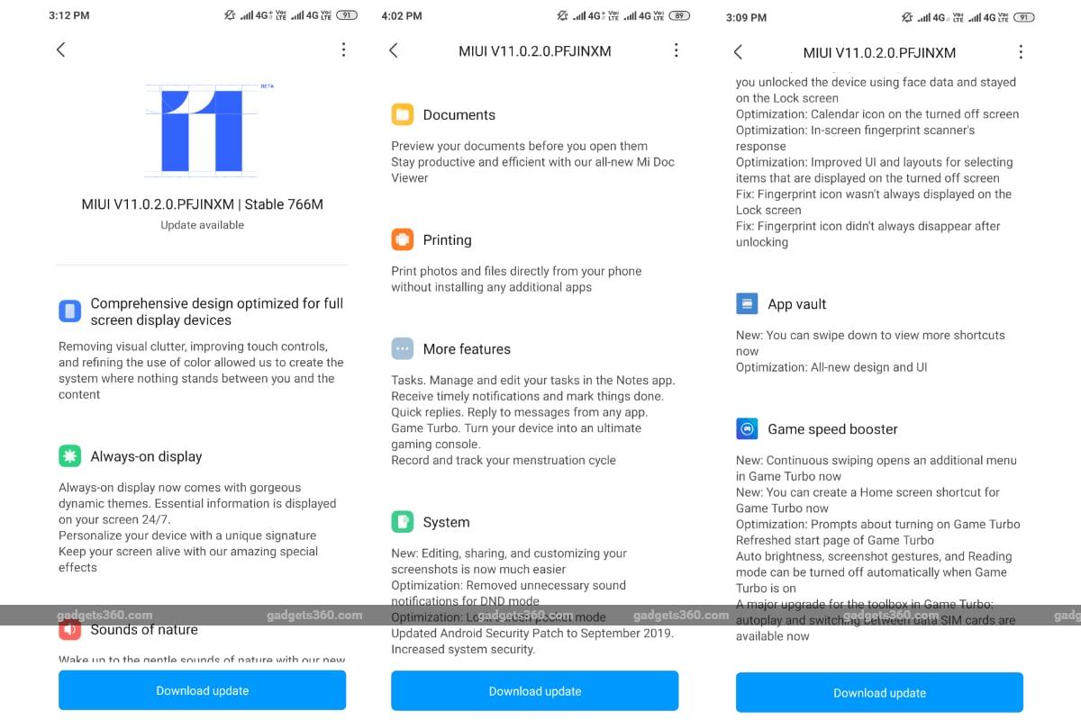 miui 11 update redmi k20 gadgets 360 MIUI 11  MIUI  Xiaomi