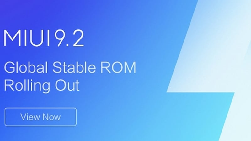 MIUI 9.2 Global Stable ROM Now Rolling Out, Brings App Vault, Improvements, and Fixes