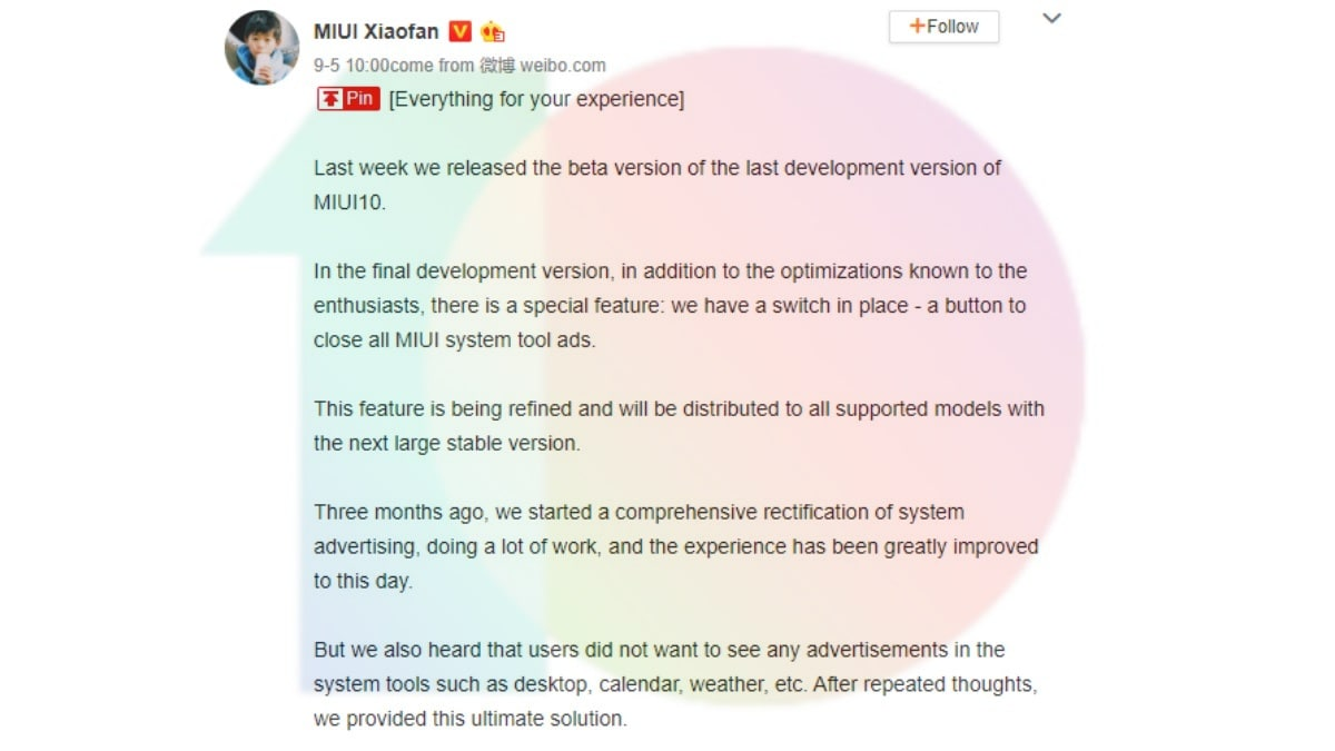 Xiaomi Testing an Ad Switch Tool in MIUI to Let Users Opt Out of Seeing Ads