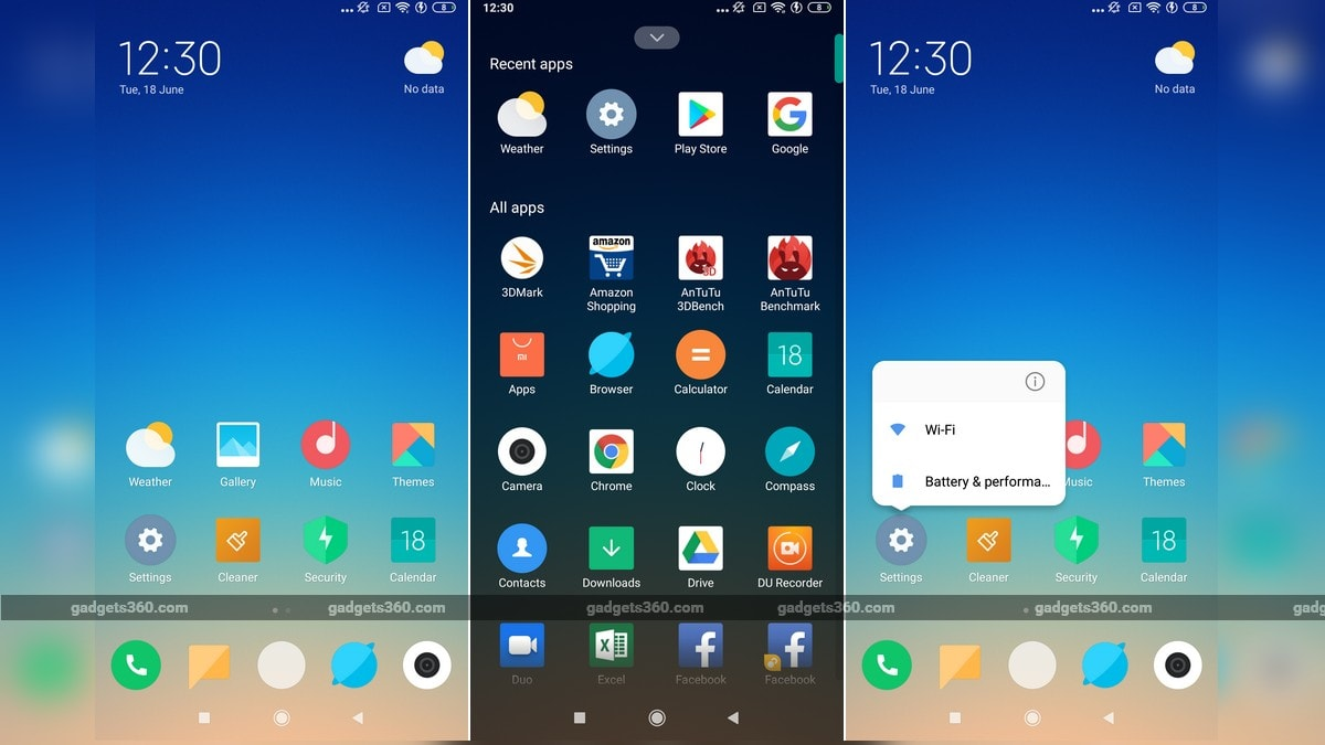 Xiaomi Testing App Drawer in MIUI Launcher, App Shortcuts Also Spotted in Alpha Development Build