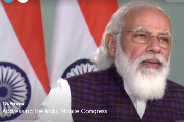 Prime Minister Narendra Modi at India Mobile Congress: Mobile Tech to Be Used for COVID-19 Vaccination Drive