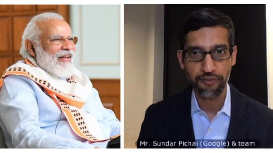 PM Narendra Modi, Google's Sundar Pichai Discuss How Tech Can Transform Lives of Indians