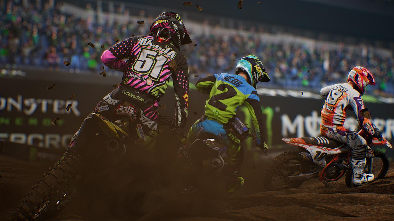 monster energy supercross game action Monster Energy Supercross game