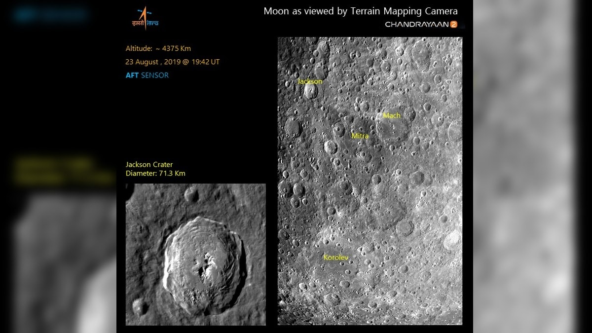 Chandrayaan-2: Fresh Photos of Moon Craters Released by ISRO