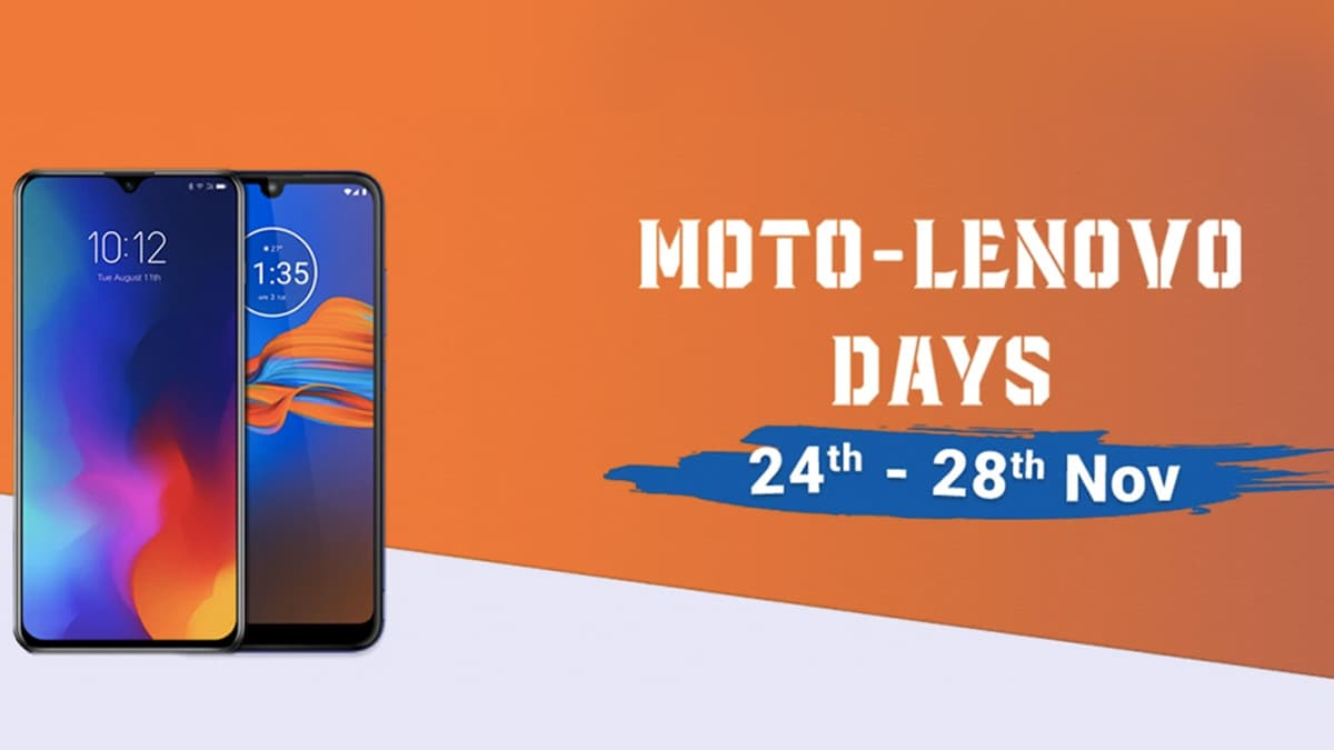 Moto Lenovo Days Sale on Flipkart Features Discounts on Moto E6s, Motorola One Vision, Lenovo Z6 Pro, More, and Other Offers