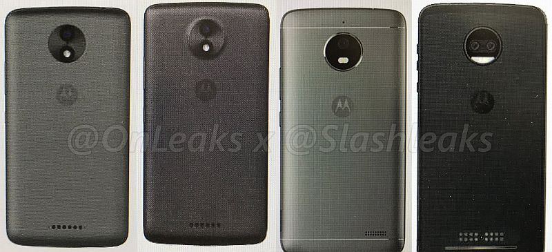 Moto C, Moto C Plus, Moto E4, Moto Z2 Spotted in Leaked Press Renders