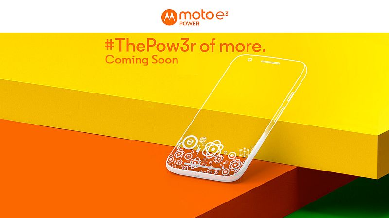 Moto E3 Power India Launch Set for Today