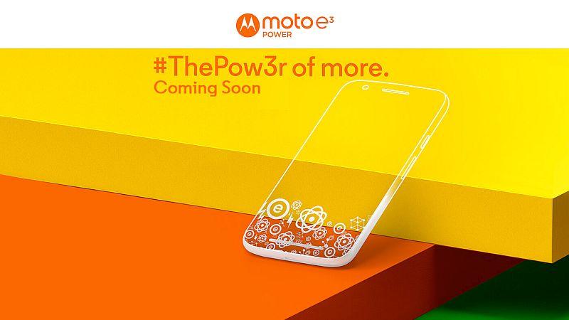 Moto E3 Power India Launch Set for September 19