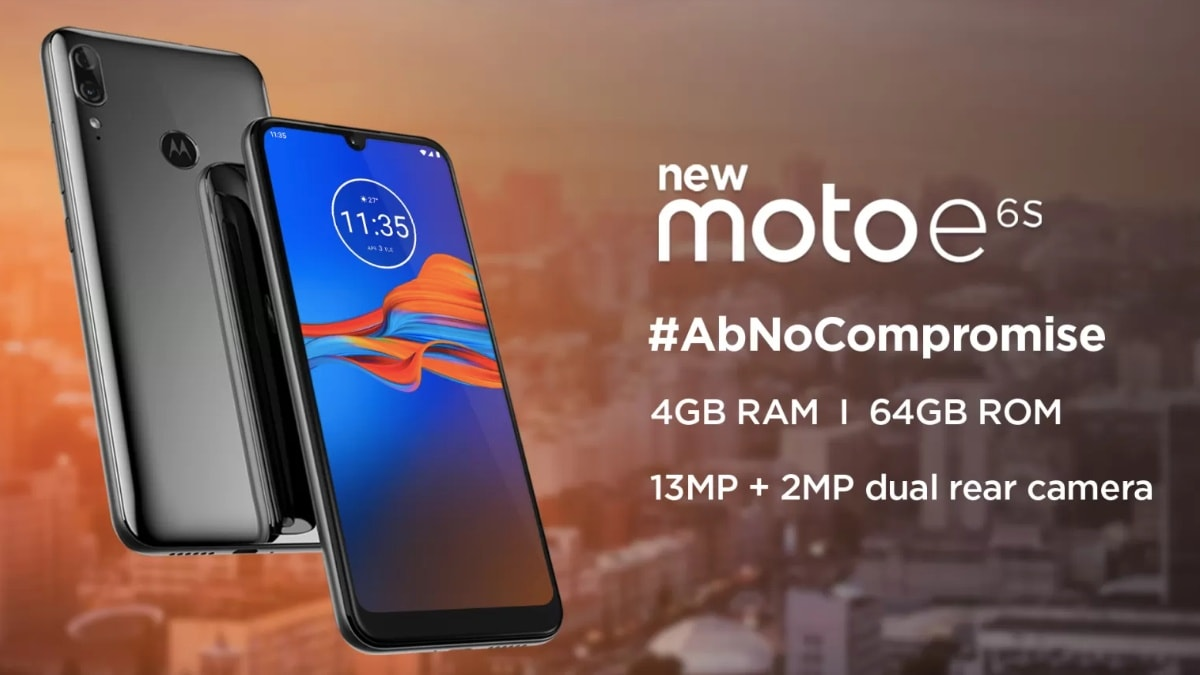 Moto E6S With Dual Rear Cameras Launching in India on September 16, Specifications Teased
