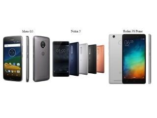 मोटो जी5 बनाम नोकिया 5 बनाम रेडमी 3एस प्राइम: कौन सा फोन है बेहतर?