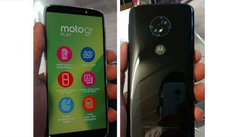 Moto G6 Series Leaked Renders Reveal 5 Colour Options; Moto G6 Play Live Image Leaked