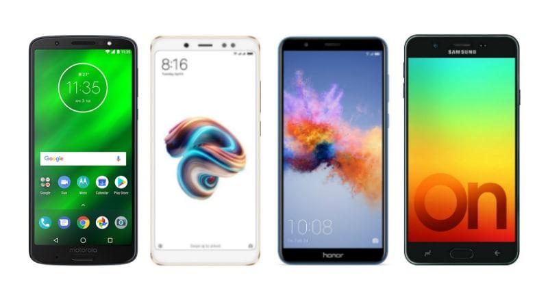 Moto G6 vs Xiaomi Redmi Note 5 Pro vs Honor 7X vs Samsung Galaxy On7