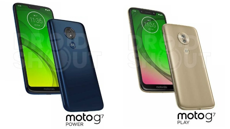 moto g7 power play renders droidshout Moto G7 Power  Moto G7 Play