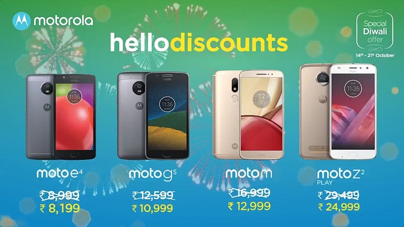Moto E4, Moto G5, Moto M, Moto Z2 Play Get Limited Period Discounts, Offers in India