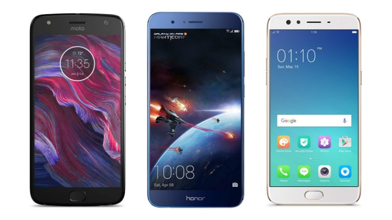 Moto X4 6GB RAM vs Honor 8 Pro vs Oppo F3 Plus: Price