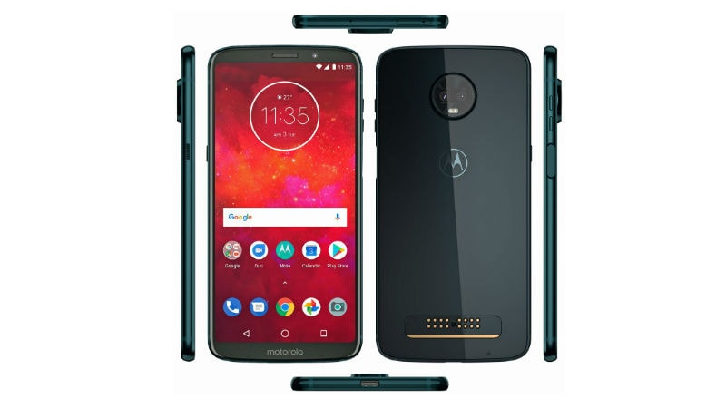 Moto Z3 Play Deep Indigo Colour Variant Render Leaked, Side-Mounted Fingerprint Scanner Tipped