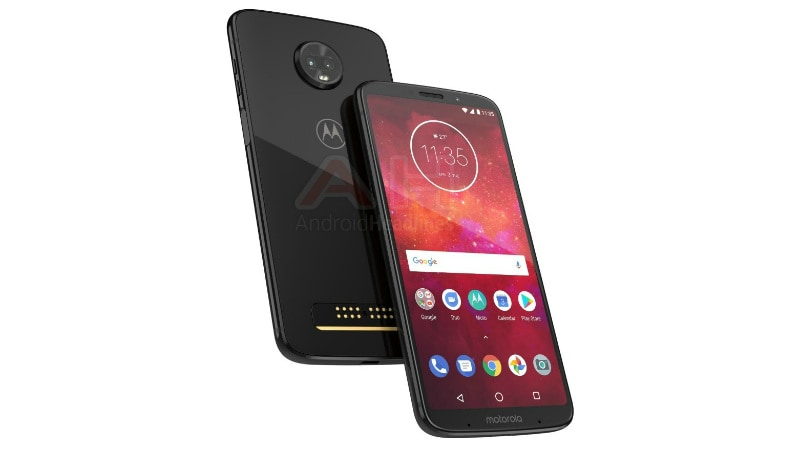 Moto Z3 Play Press Render Shows Its Thin-Bezel Display, Glass Back