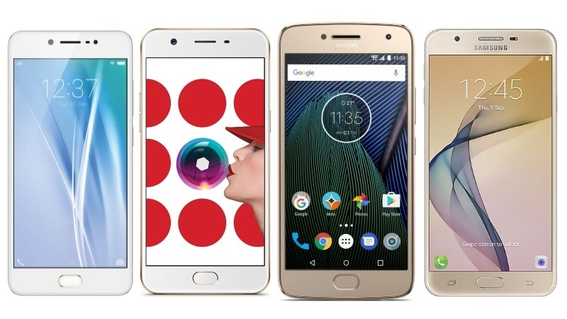 Vivo V5 vs Oppo A57 vs Moto G5 Plus vs Samsung Galaxy J7 Prime
