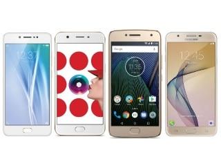 Vivo V5 vs Oppo A57 vs Moto G5 Plus vs Samsung Galaxy J7 Prime