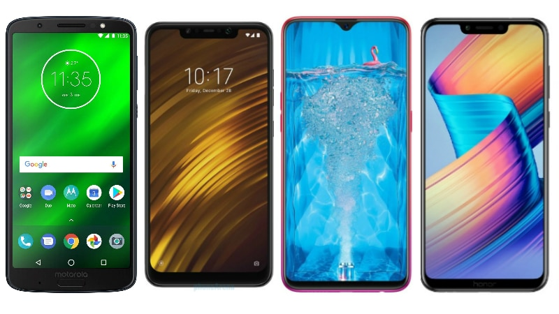 Moto G6 Plus vs Poco F1 vs Oppo F9 Pro vs Honor Play: Price in India