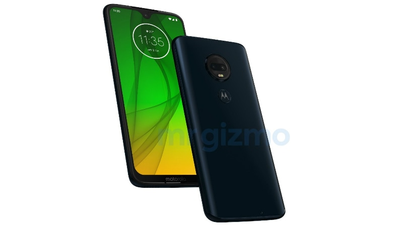 Moto G7 Plus Renders Tip Waterdrop-Shaped Display Notch, Dual Rear Cameras