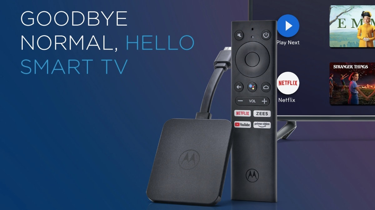 Motorola 4K Android TV Stick Launched in India, Priced at Rs. 3,999 - Gadgets 360