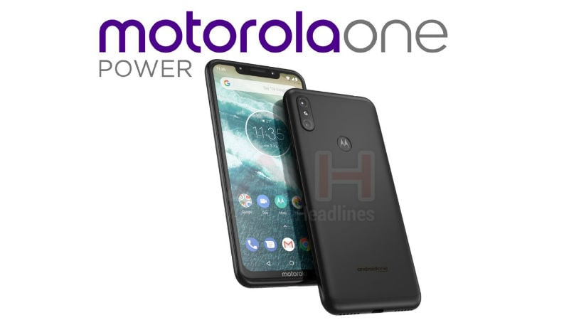 Motorola One Power, an Android One Smartphone, Leaked With iPhone X-Like Design and Notch