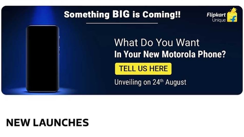 Motorola Launching New Phone in India on August 24, Flipkart Availability Teased