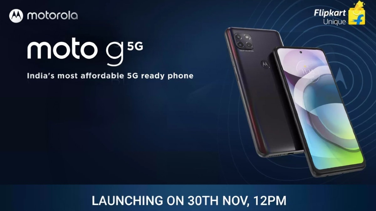 Motorola Moto G 5G is coming to India on November 30