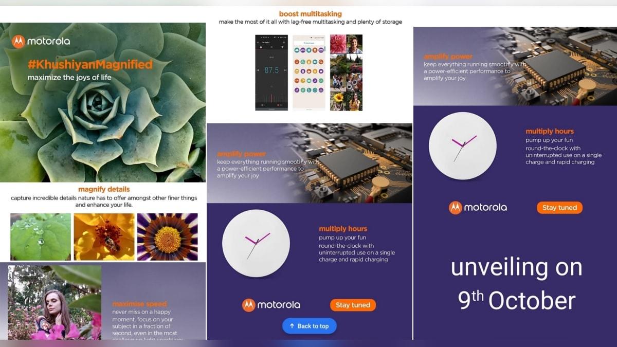 Motorola One Macro India Launch on October 9, Flipkart Teaser Page Tips