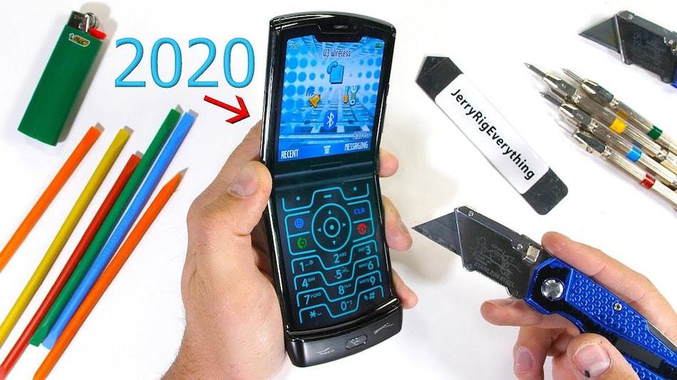Motorola Razr 2019 Put Through JerryRigEverything's Durability Test in New Video