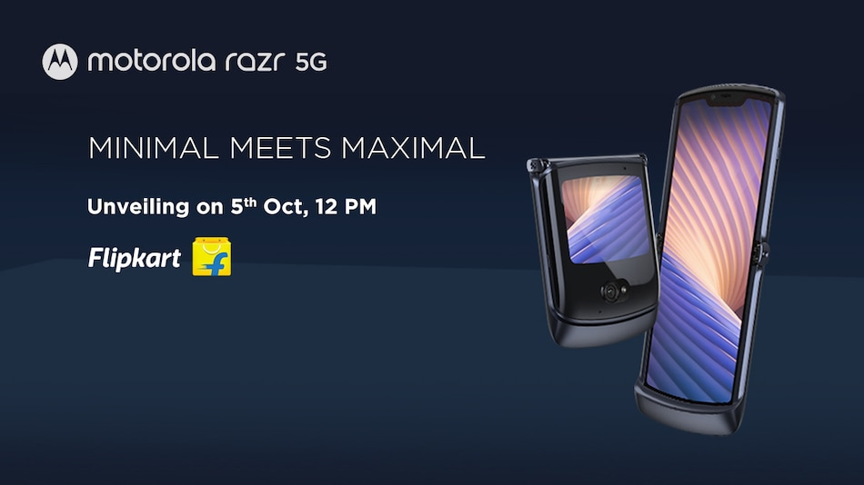 Motorola Razr 5G India Launch Set for October 5, to Be Offered via Flipkart