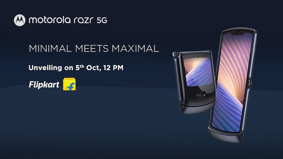 Motorola Razr 5G भारत में 5 अक्टूबर को होगा लॉन्च, Flipkart पर होगी बिक्री