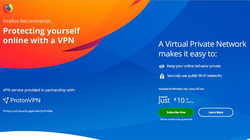 Mozilla Firefox to Start Selling ProtonVPN Subscriptions; Android Version 63 Brings Picture-in-Picture Video Support