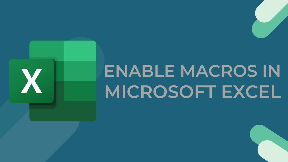 Microsoft Excel: How to Enable Macros to Speed Up Repetitive Tasks