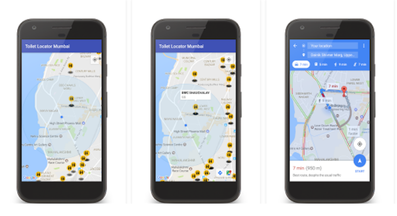 Mumbai toilet locator app launched for android by bmc for Best bathroom finder app