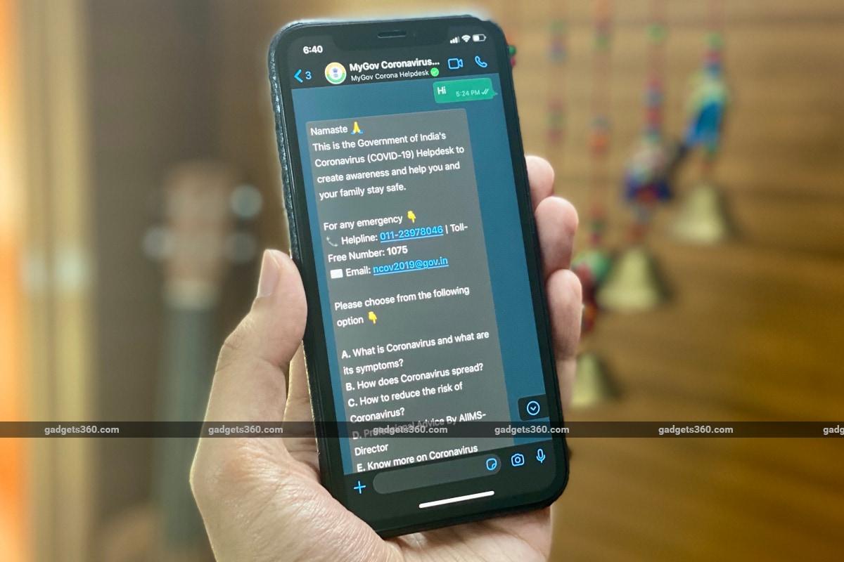 Coronavirus WhatsApp Chatbot By Government Crosses 1.7 Crore Users in 10 Days of Launch