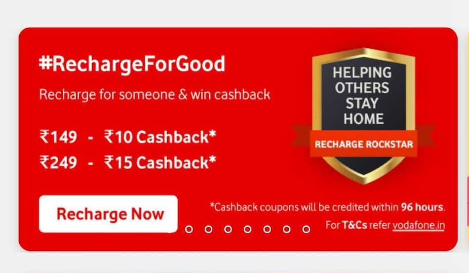 Vodafone Idea Now Offering Cashback to its Subscribers for Recharging Other People's Prepaid Accounts