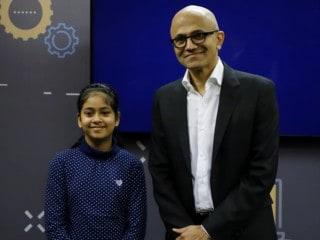 Meet Namya Joshi, the 13-Year-Old From Ludhiana Whom  Satya Nadella Praised On Stage